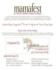 mamafest 2014 flyer